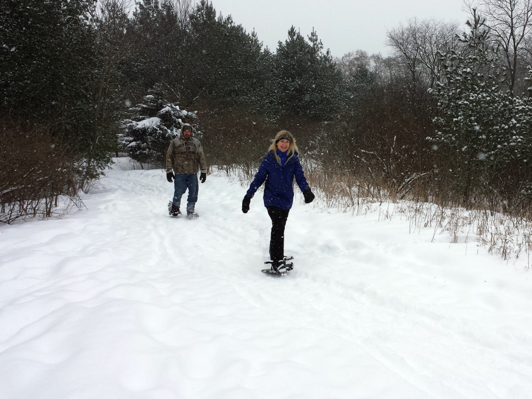 The Kettle Moraine State Forest in southern Wisconsin offers an extensive trail system for snowshoers.
