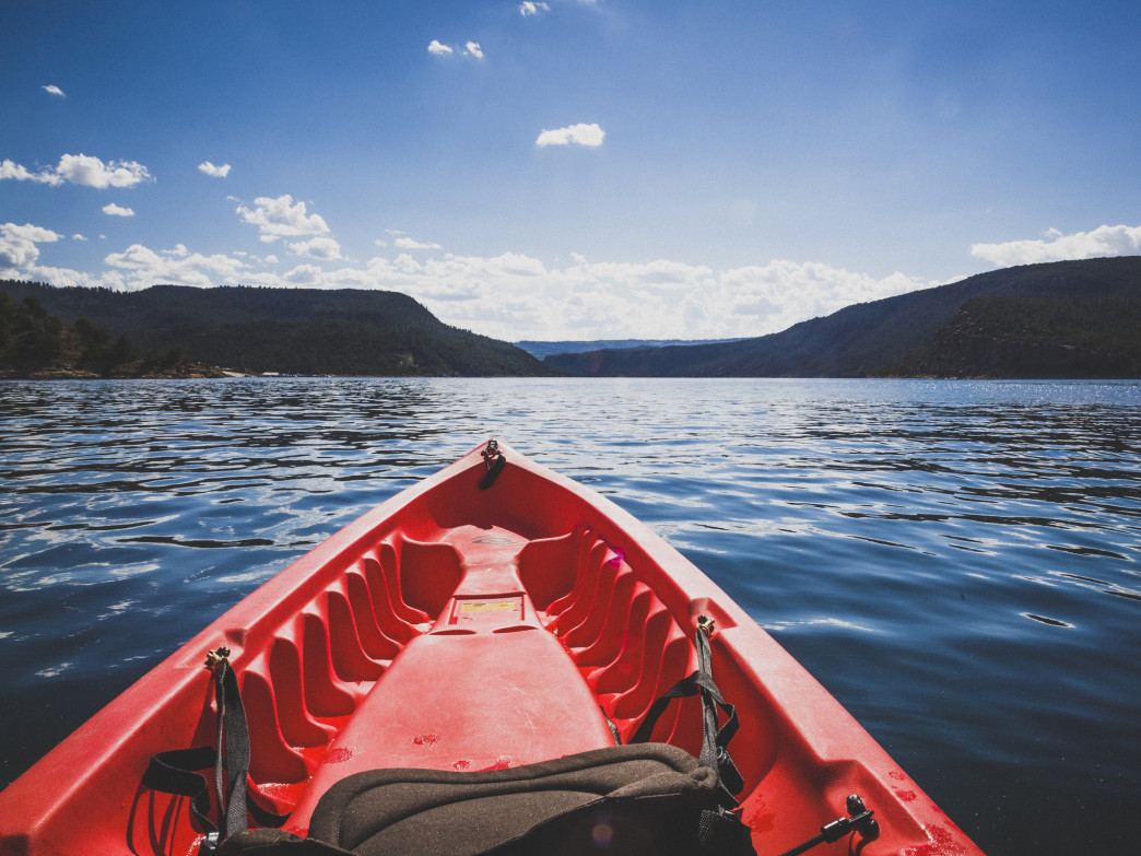 Flaming Gorge is a paddler's paradise.