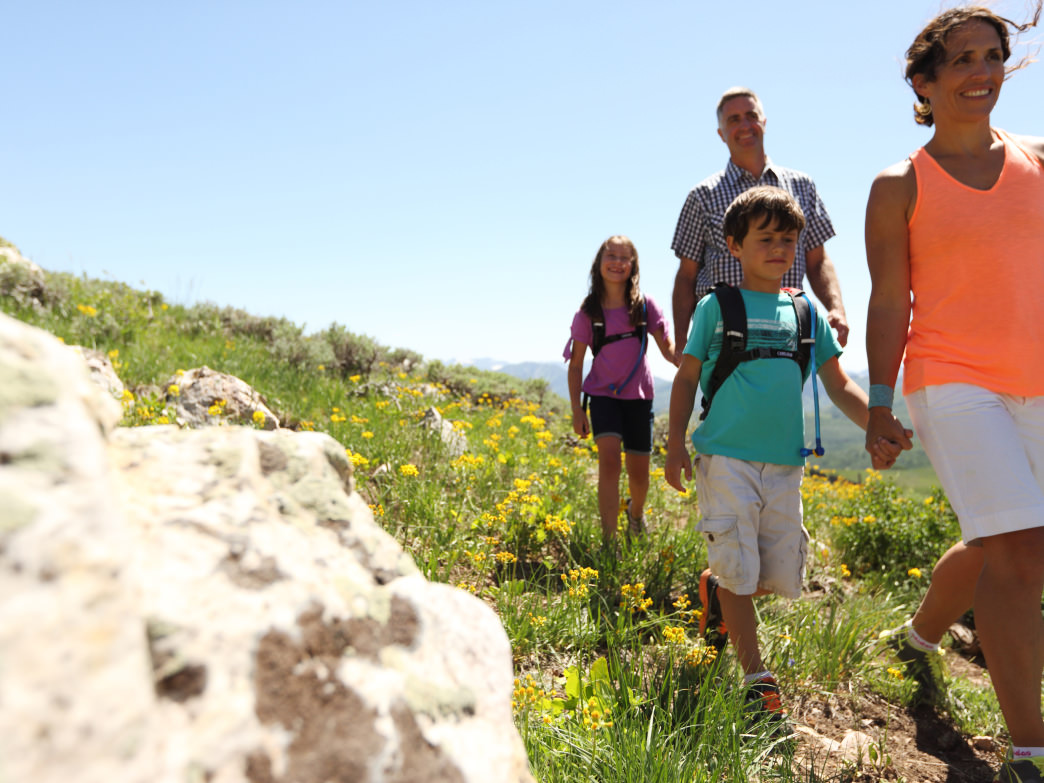 One of the easiest ways to explore Park City with kids is taking a hike.