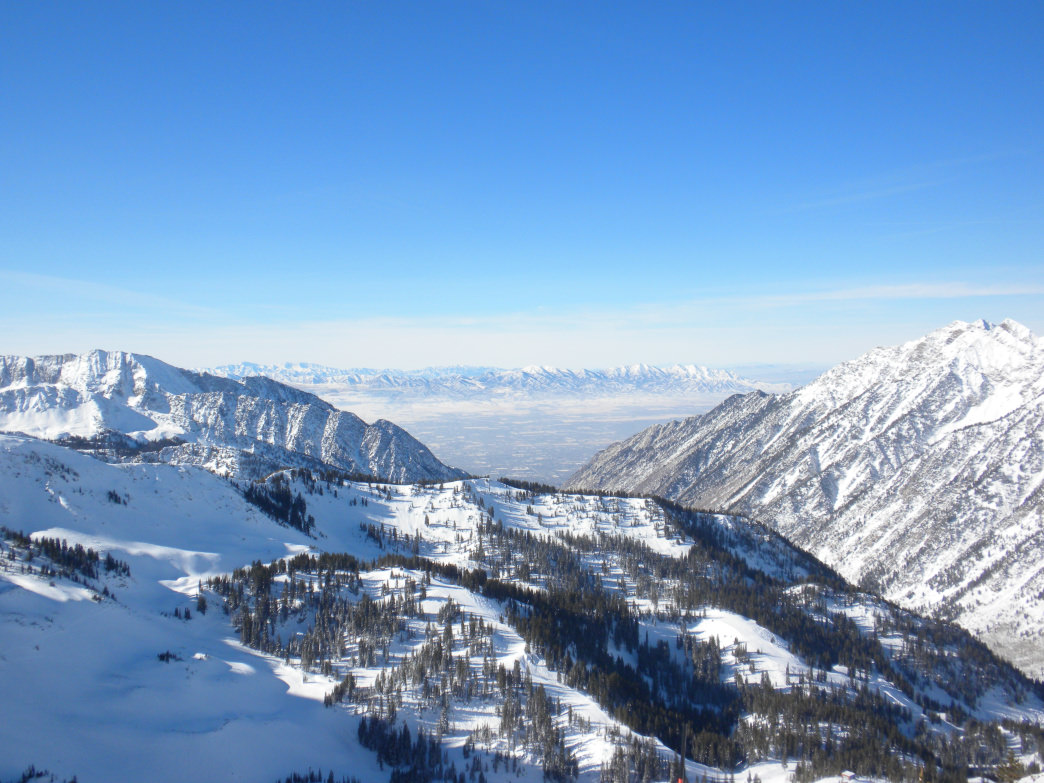 A view from Snowbird, which is part of the Ski Utah Interconnect Tour.