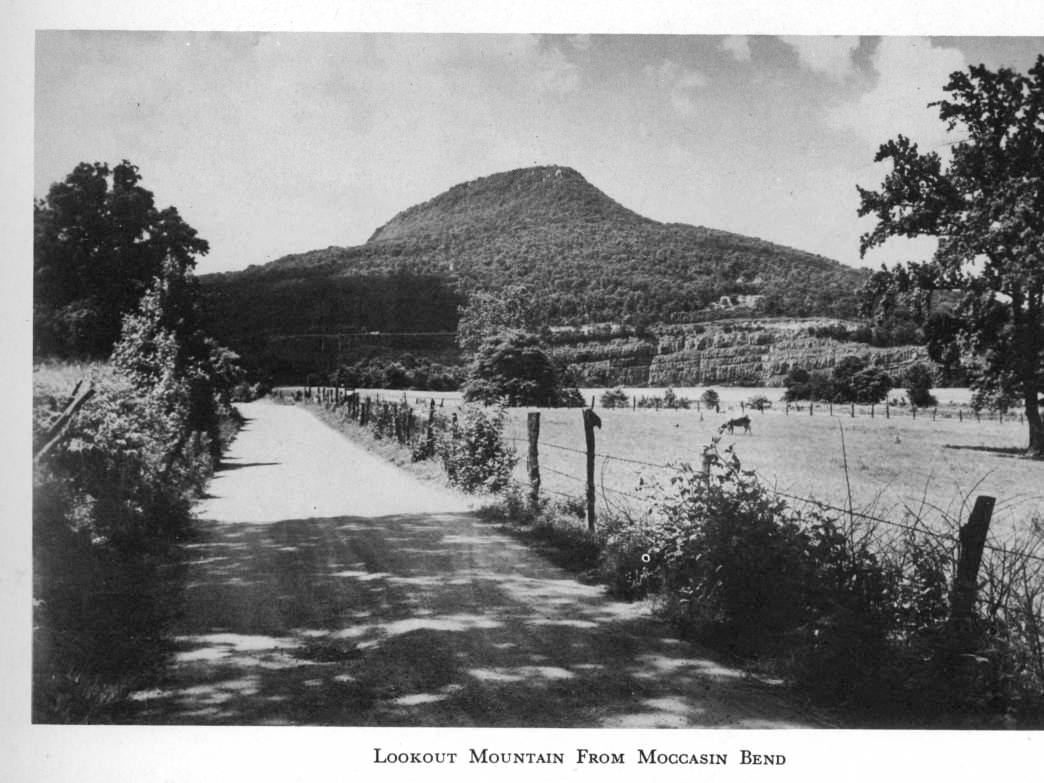 Lookout Mountain from Moccasin Bend in 1956