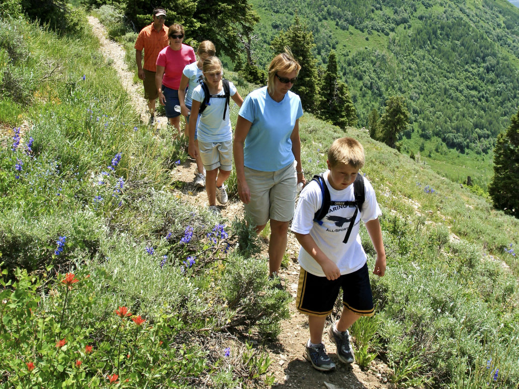 Enjoy one of the many family friendly hikes in Wasatch Mountain State Park.