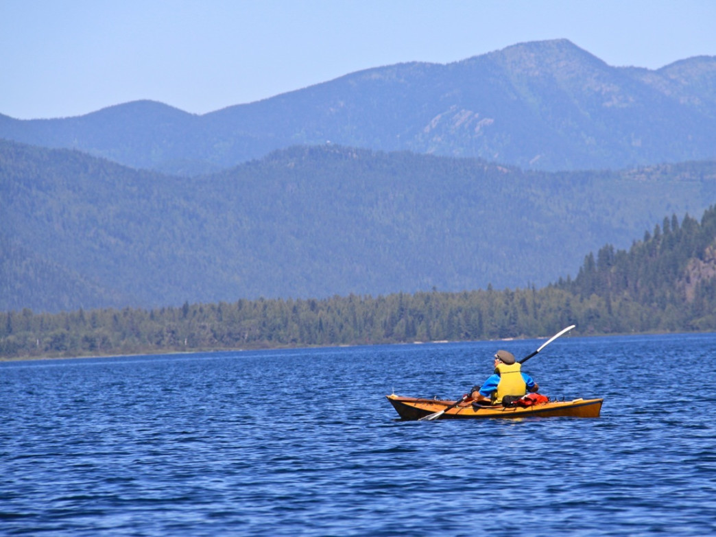 The expanse of Upper Priest Lake and its remote shore-side campsites lure touring kayakers every summer.