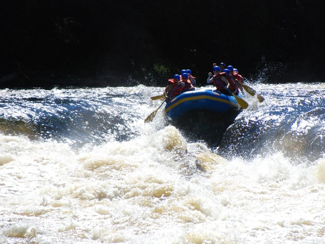 Whitewater rafting on the Menominee River.