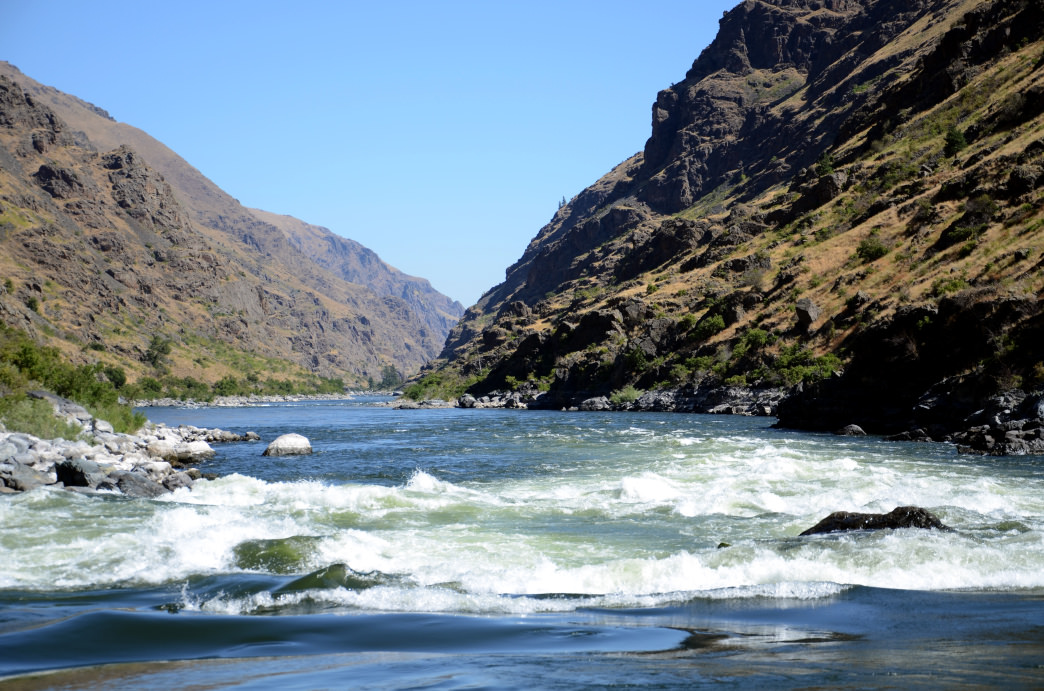 The Snake River as it slithers through Hell's Canyon.