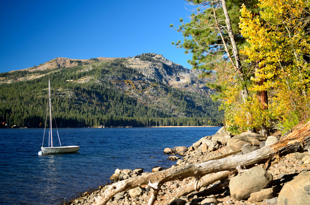 The fall colors are especially beautiful around Donner Lake.