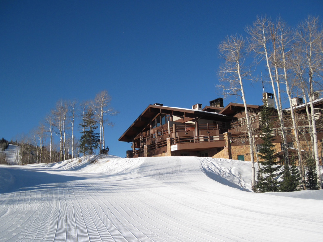 The Stein Eriksen Lodge is just one of the slopeside housing options at Deer Valley.