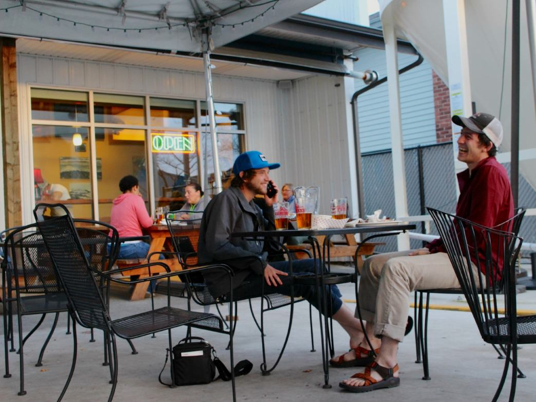 The outdoor patio at Kulshan Brewery is a great place to unwind after a day of exploring