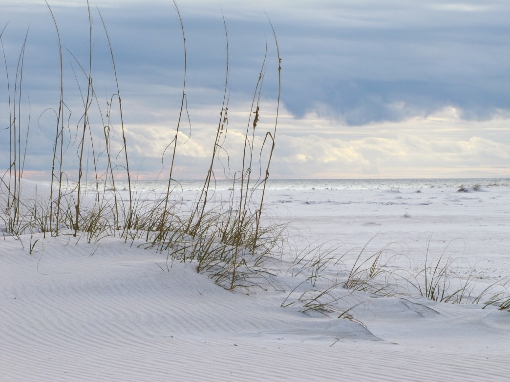 White sands in Gulf Shores, Alabama.