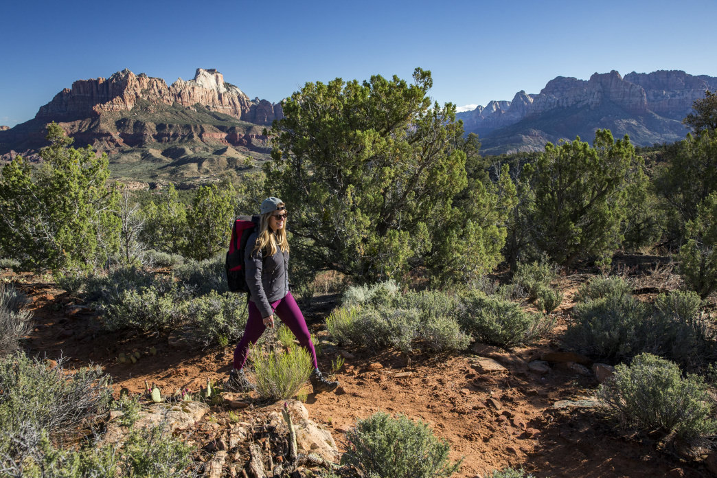 A beautiful hike just outside Zion National Park that provides views and solitude.