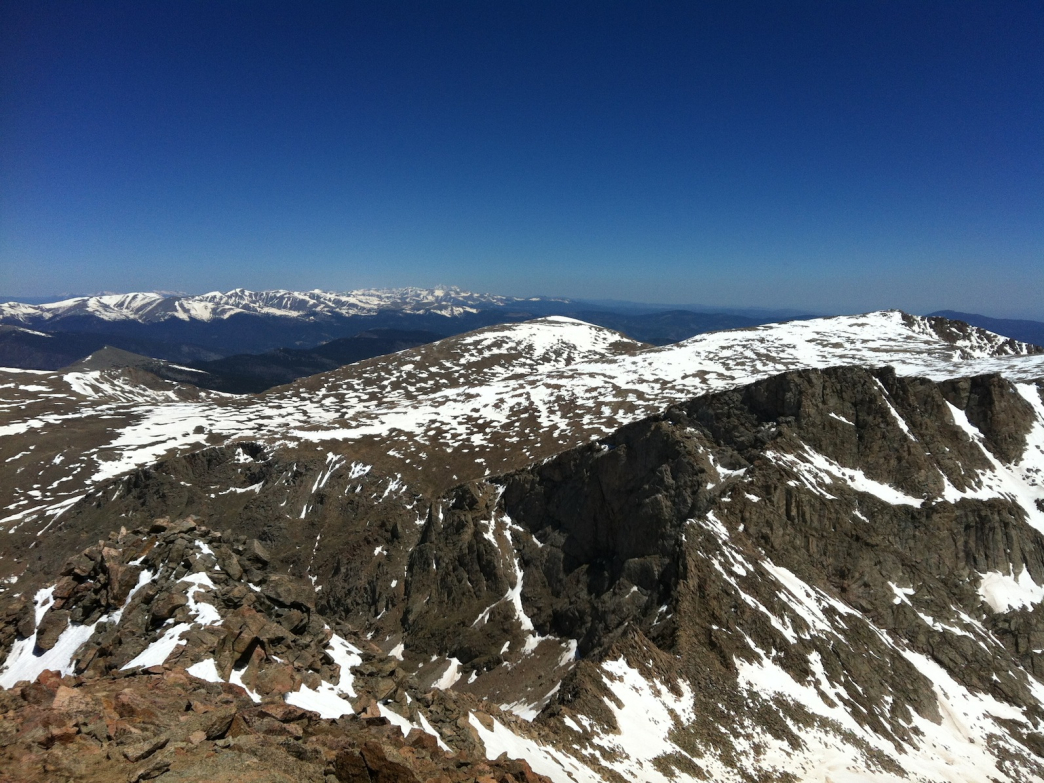 The view from the summit of Mount Bierstadt makes you feel like you're on top of the world.