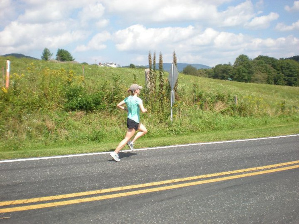 Molskness running the Blue Ridge Relay.
