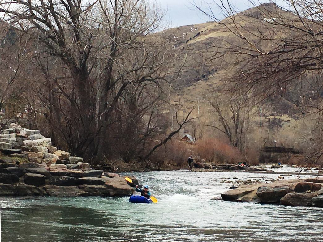 Paddle (or innertube) Clear Creek Whitewater Park for an adventure experience in the heart of downtown Golden.