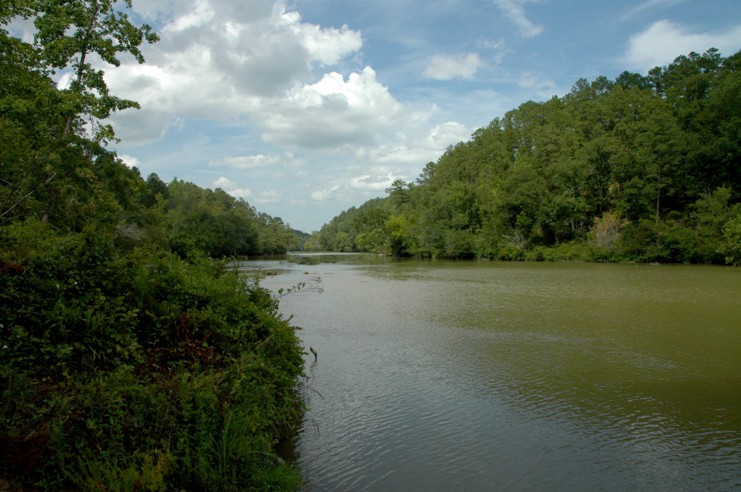 The Cahaba River passes the town of Old Cahawba, which was once Alabama's capital.