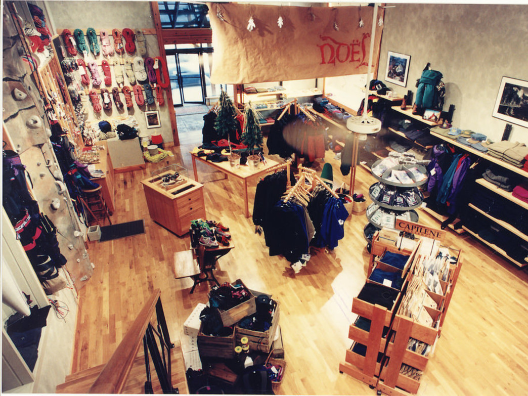 Rock/Creek's Frazier Avenue Store in the mid 90's during the Holidays