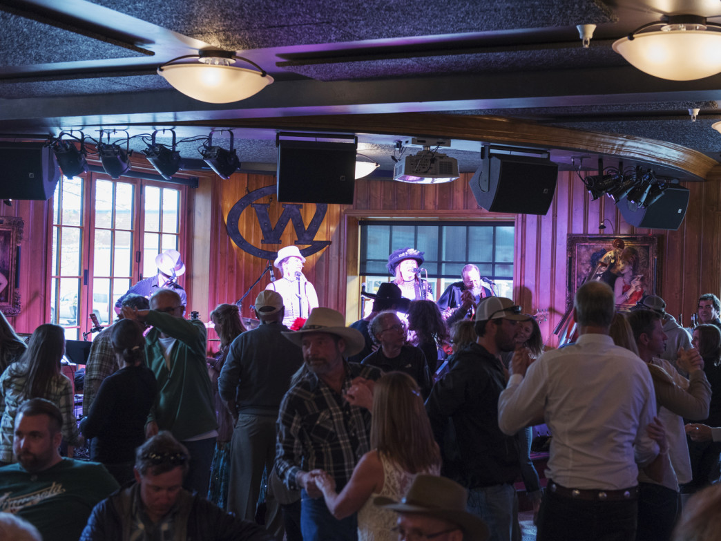 Apres options about in Jackson Hole; one not to miss is bluegrass night at the Wort.