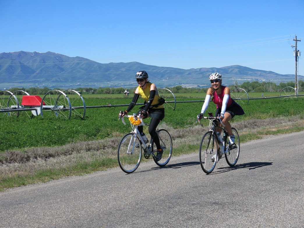 Cycling in the Cache Valley, Utah.