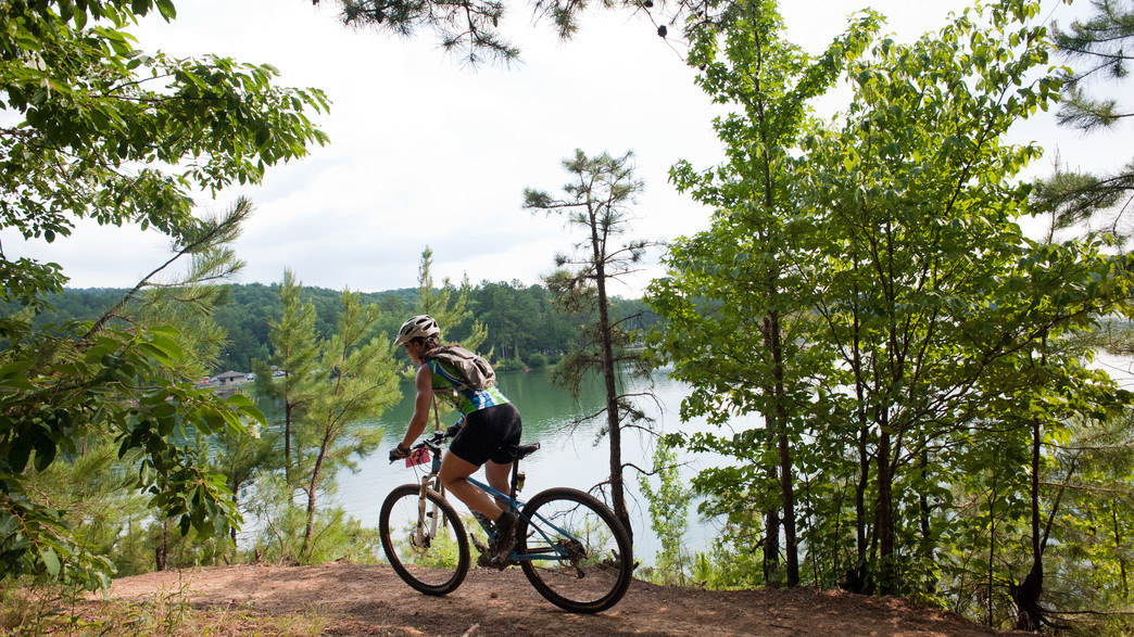 The mountain biking trails at Oak Mountain State Park   have something for riders of every ability.