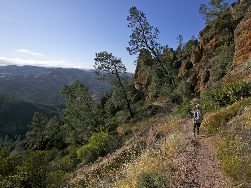 View from the trail on the west entrance of the Pinnacles