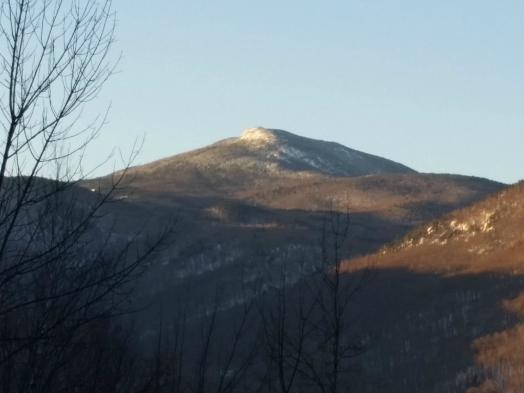 Camel's Hump basking in the sun.