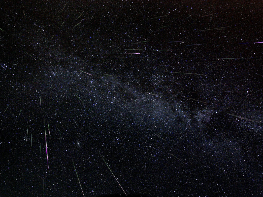The Perseid meteor shower lights up the night sky in Alabama.