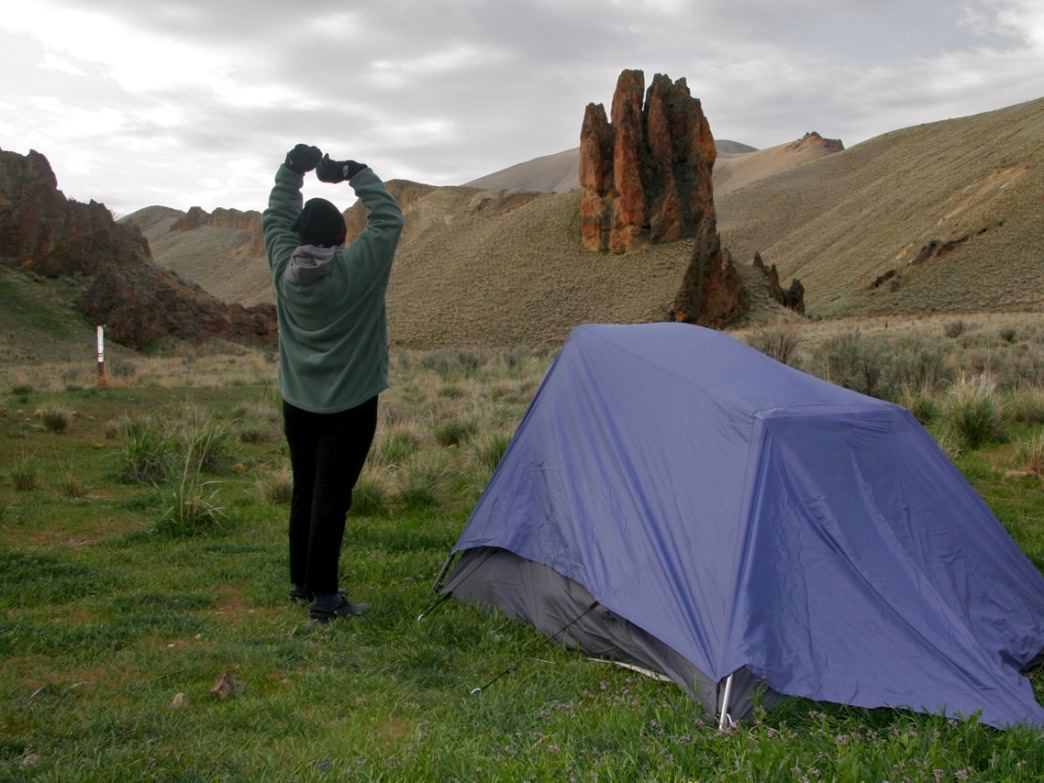 There are few developed campgrounds in the high desert areas of Southeast Oregon and Southwest Idaho but it's a chance to just throw down the tent anywhere and enjoy solitude.