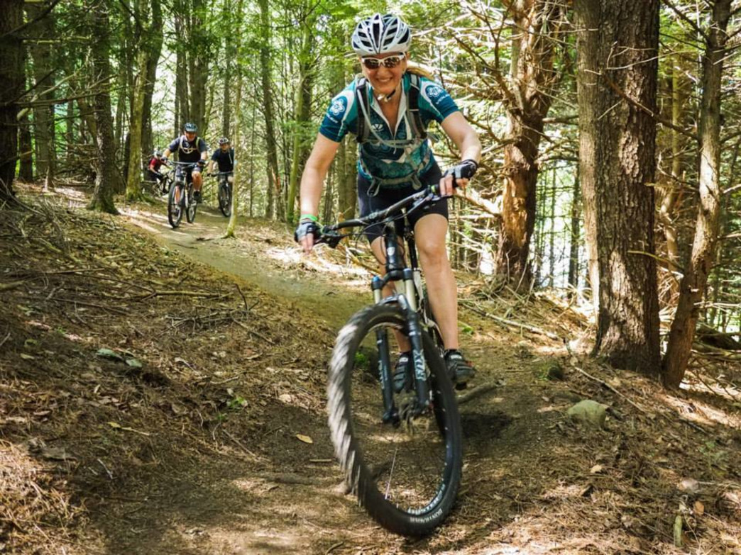 Riding the trails during VMBA Fest