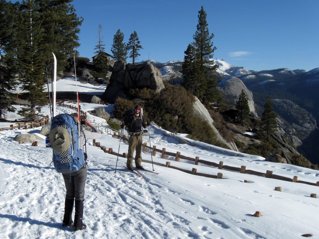 Skinny skis are a great way to explore Yosemite in winter.