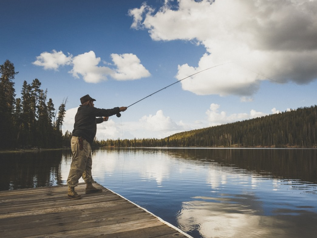 Fly fishing on Spirit Lake is sublime.