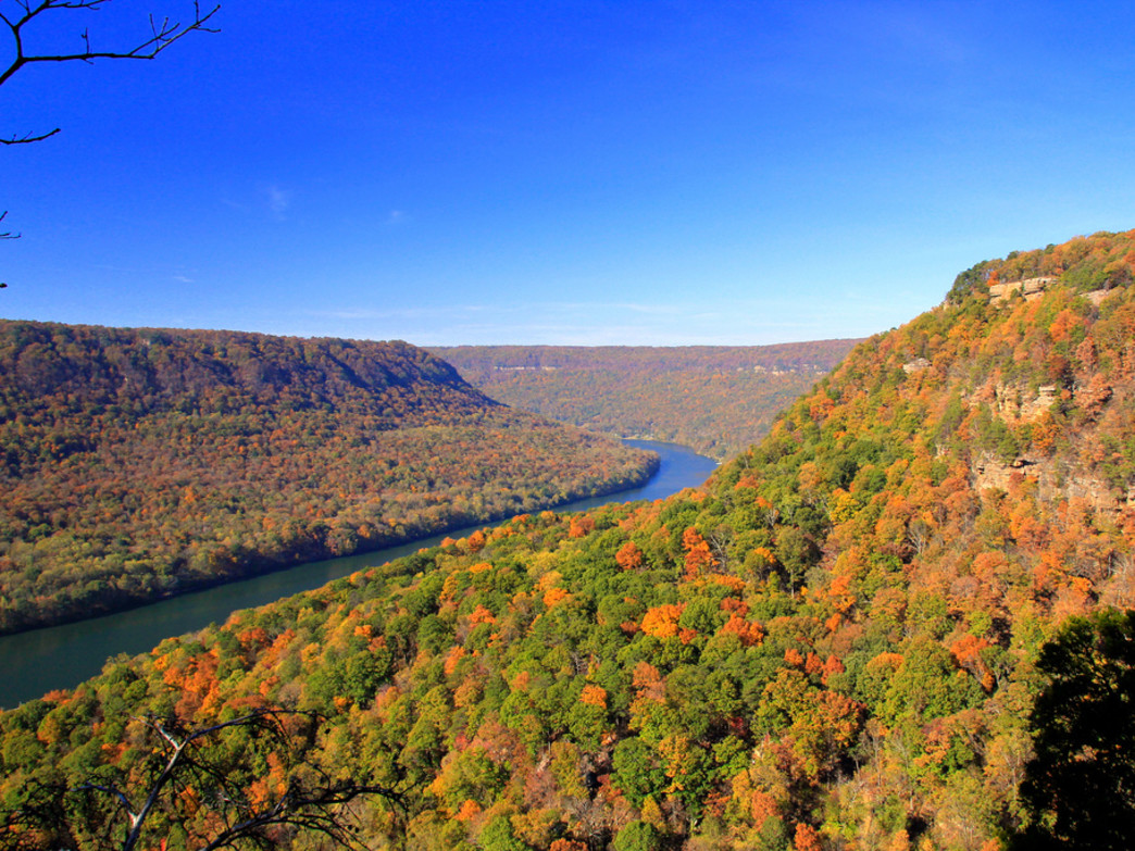The gorgeous Tennessee River Gorge in fall