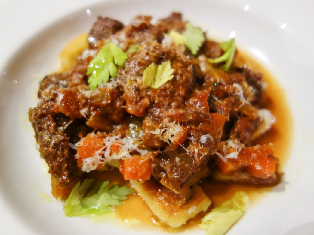 Slow braised short rib ragu, Courtesy of Dina Mishev