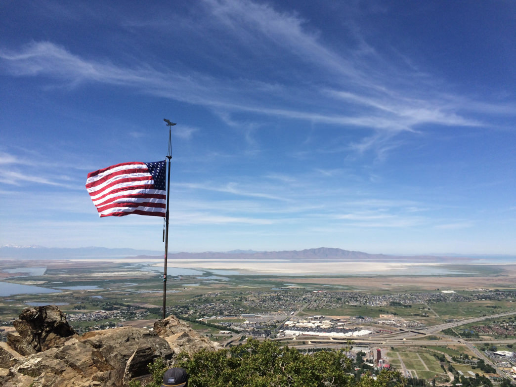 From Flag Rock you'll get a stunning view of the valley.