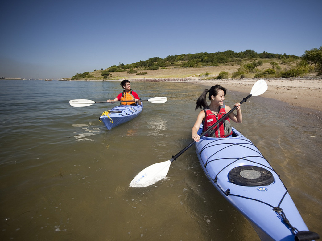 Circumnavigating Boston's Harbor Islands via sea kayak