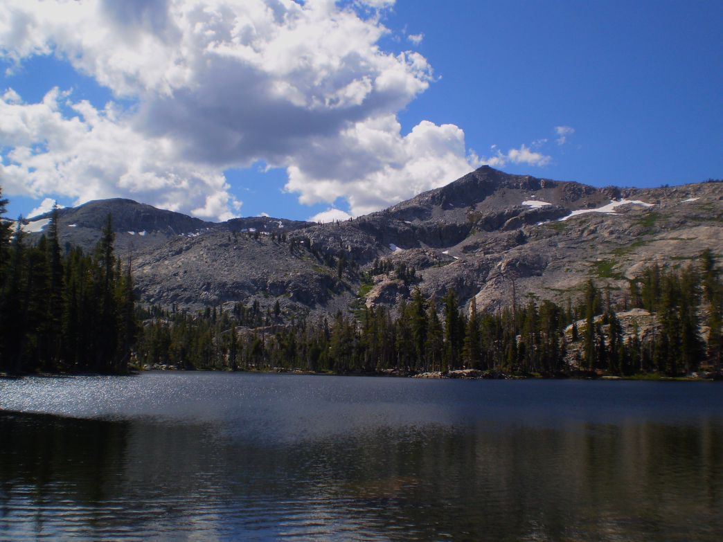 Tamarack Lake with Ralston Peak towering in the background.