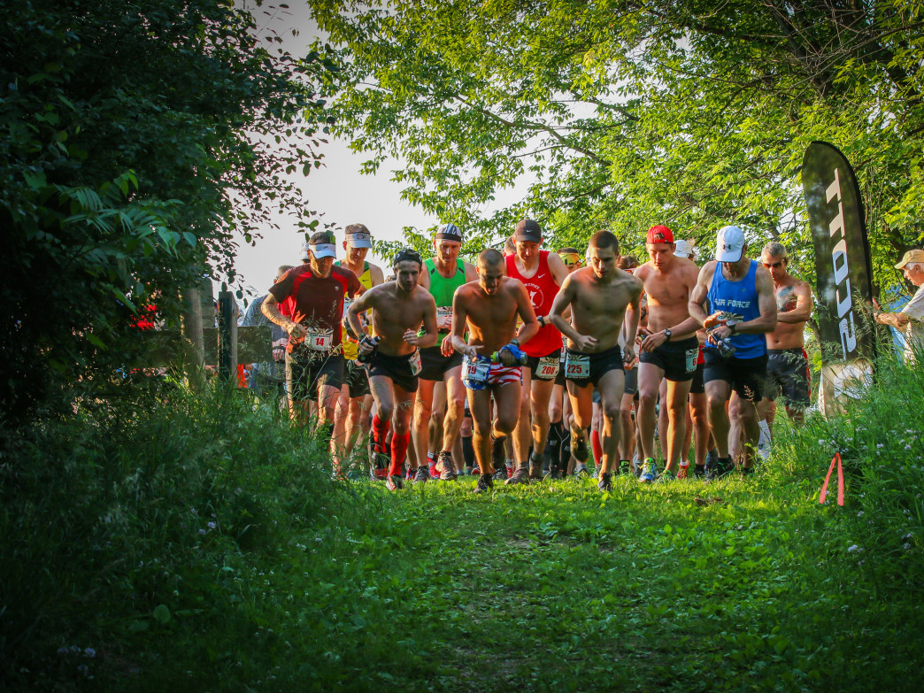 A trail running race in Afton State Park.