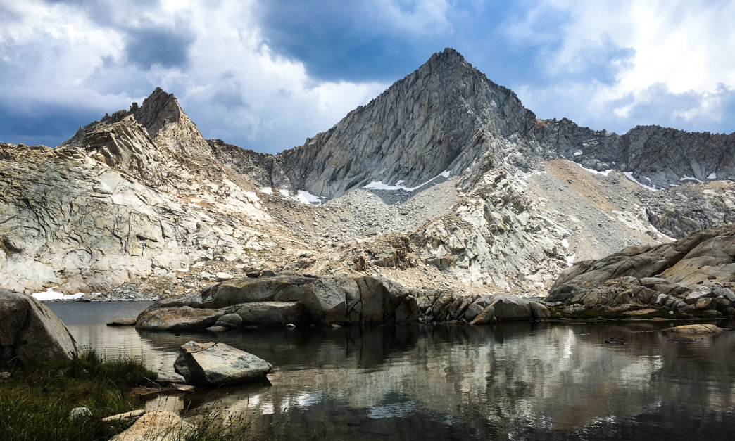 Sawtooth Peak towering above Columbine Lake.      Kara Kieffer