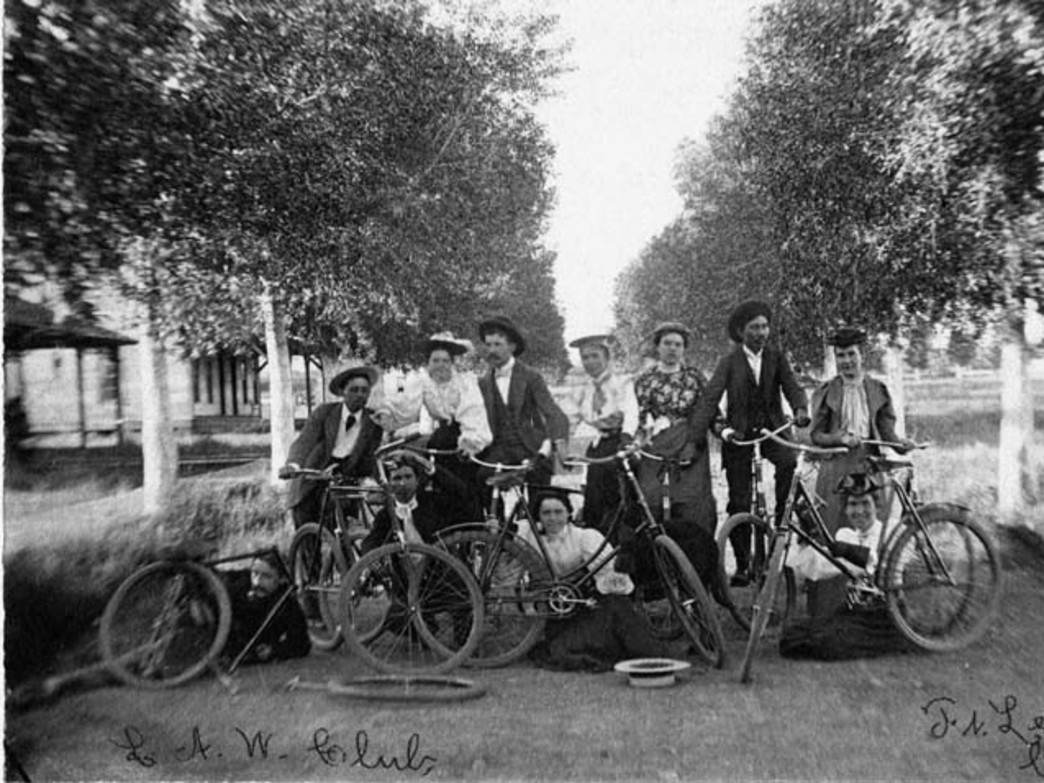 Early cyclists in Durango, CO.