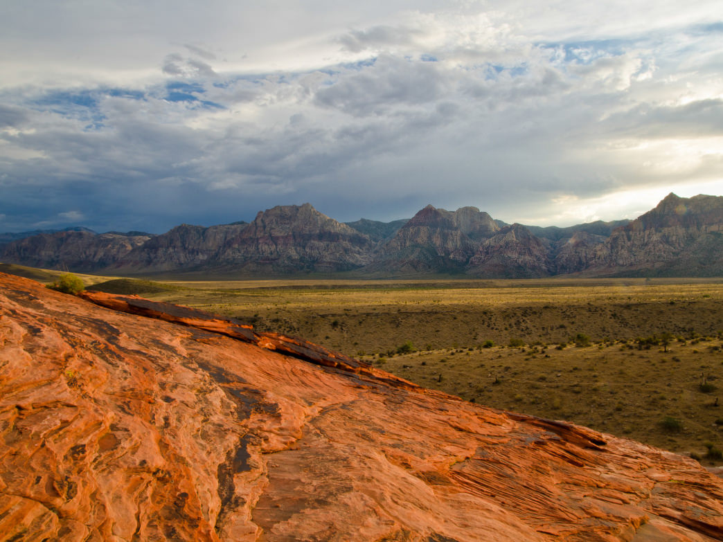 Sunset at Red Rock Canyon National Conservation Area.