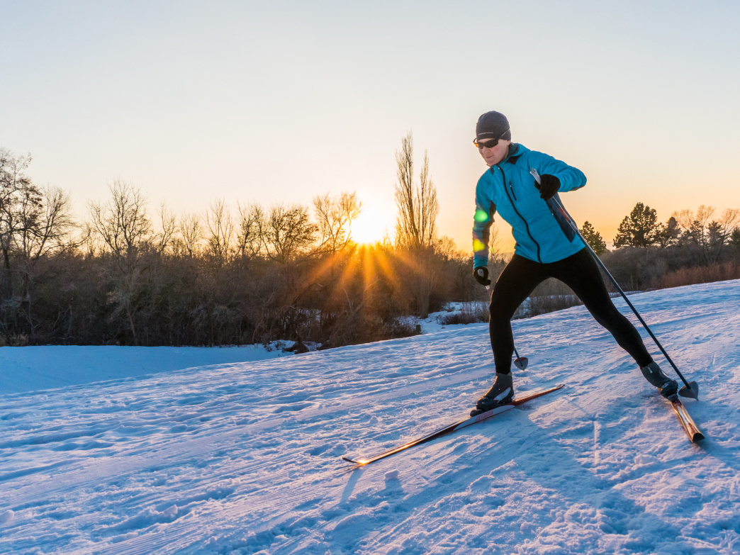 Try a different form of skiing with Nordic Skiing at North Fork Park.