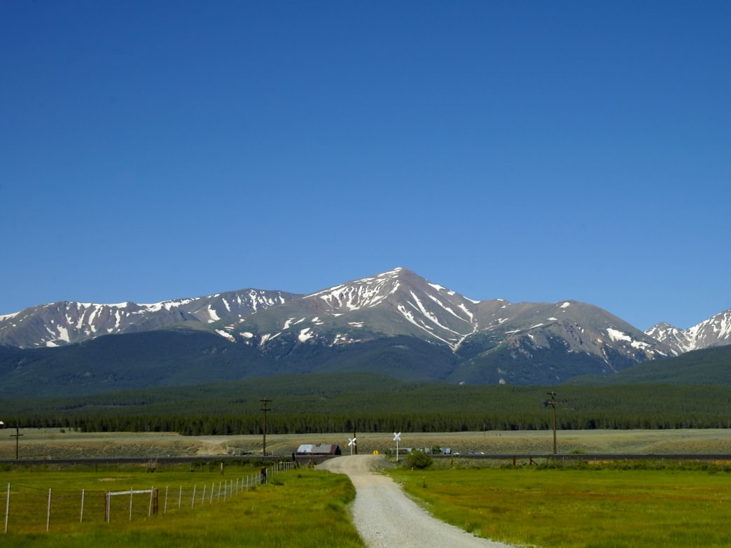 14,433 ft. Mount Elbert, Colorado's highest mountain.
