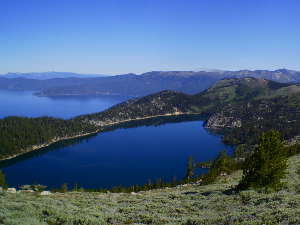 Marlette Lake as seen from the Tahoe Rim Trail.