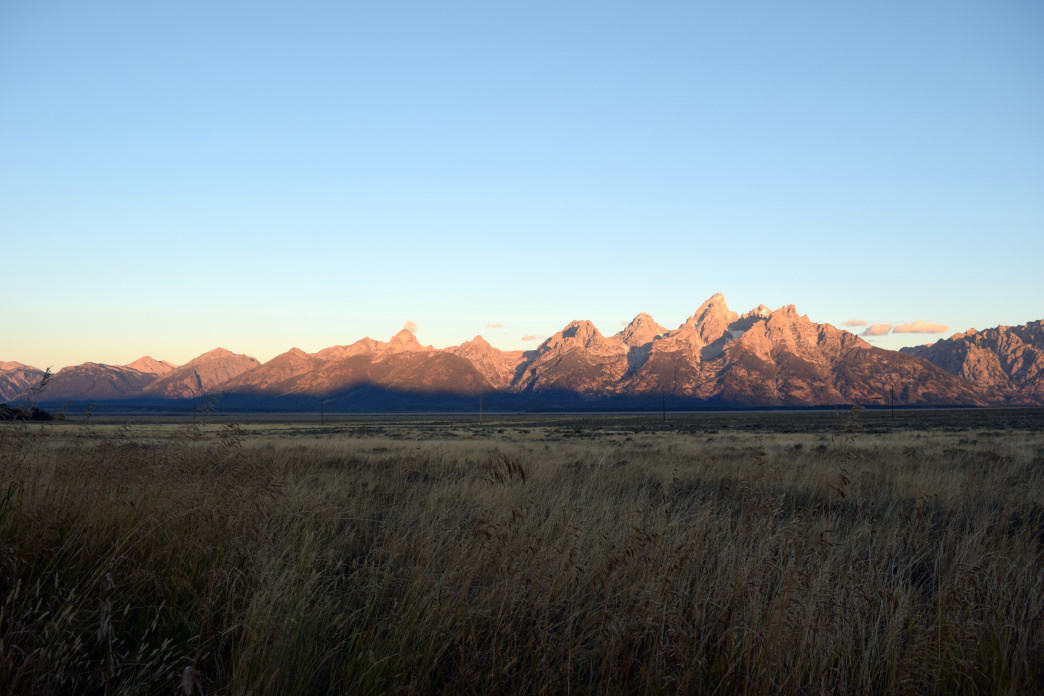 Who wouldn't want to wake up to views of the jagged Tetons?