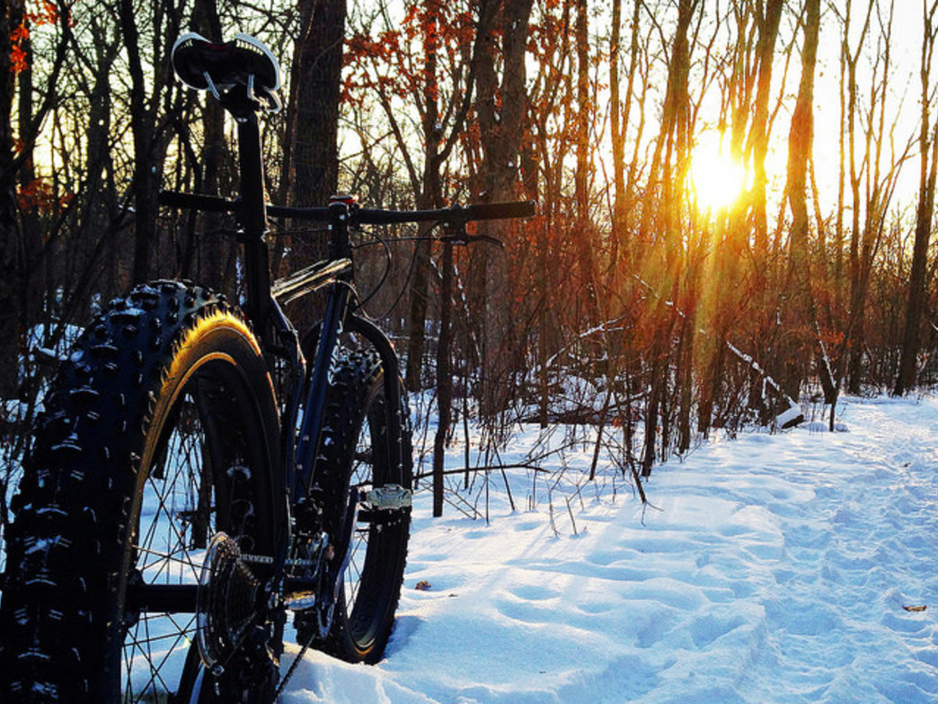 Fat bike cycling provides allows riders to enjoy snow-packed terrain in a whole new way.