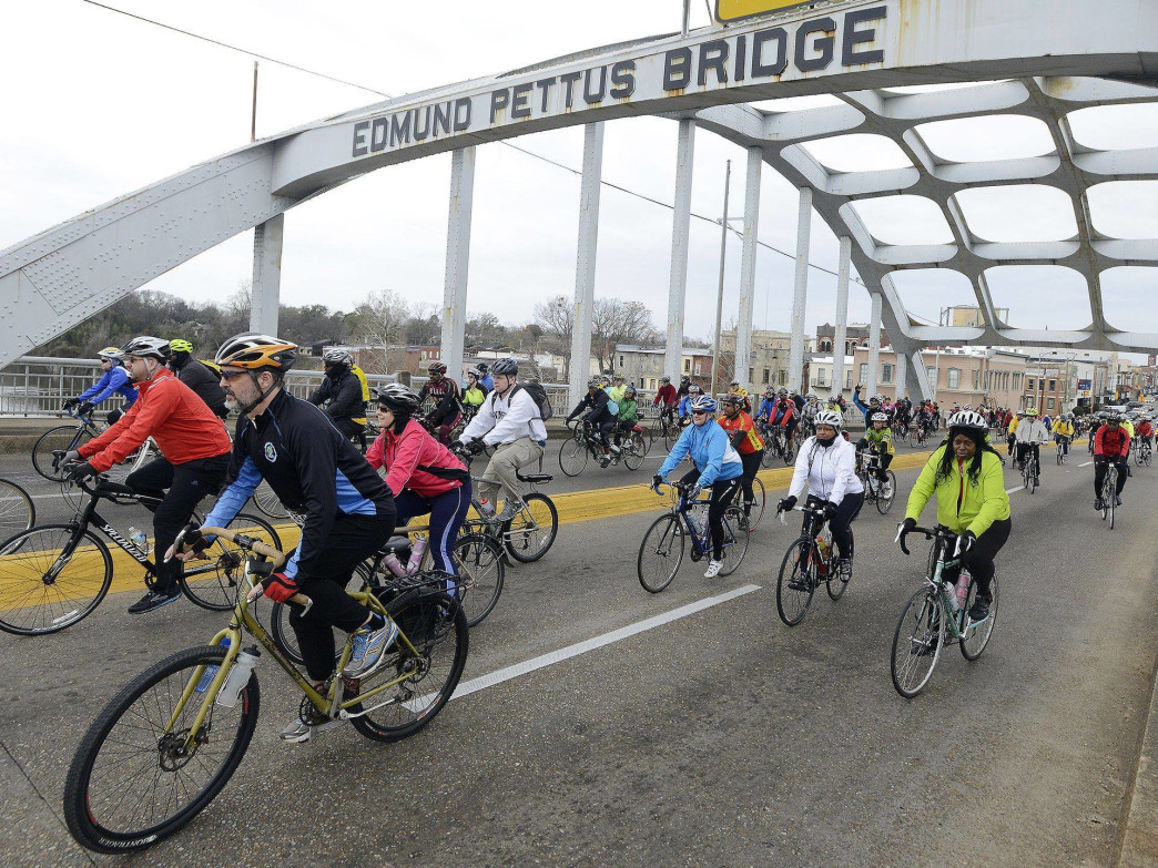 The Montgomery Bicycle Club recently organized a ride that traversed the route Civil Rights marchers used in 1965.
