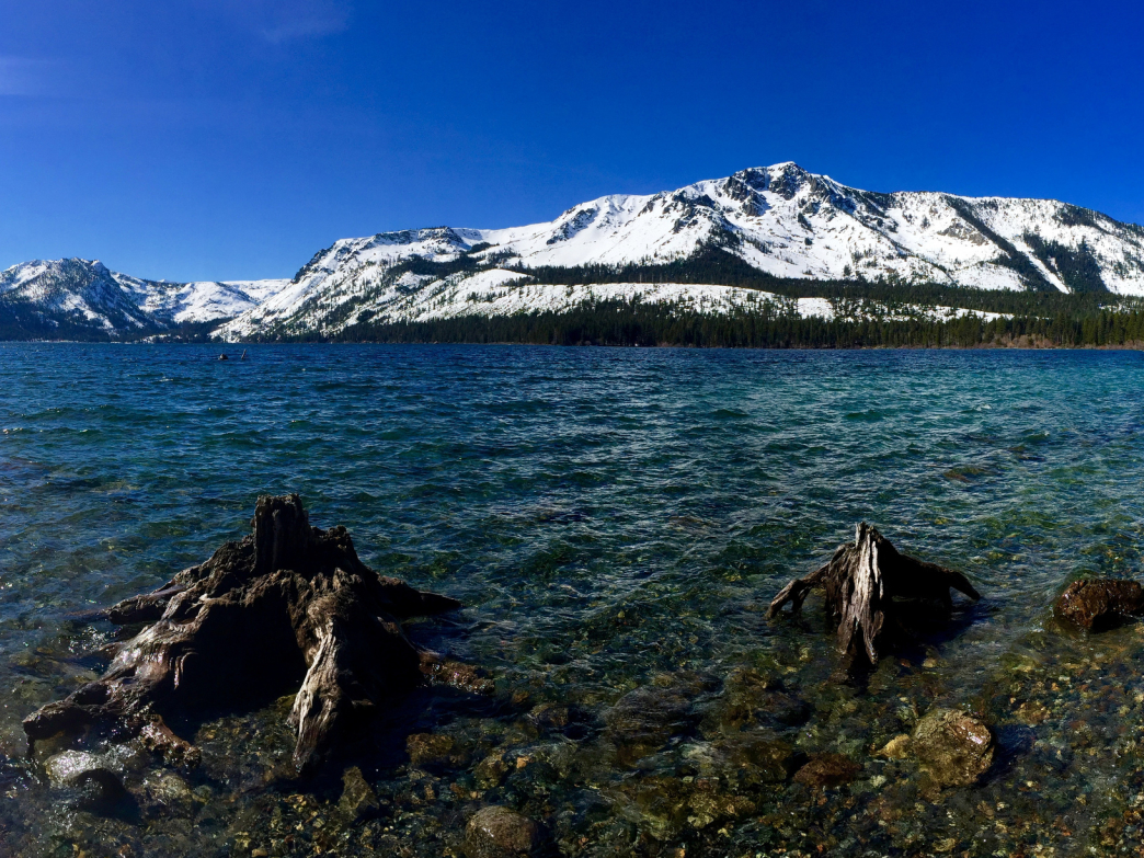 Fallen Leaf Lake boasts panoramic views of the Sierra Nevada