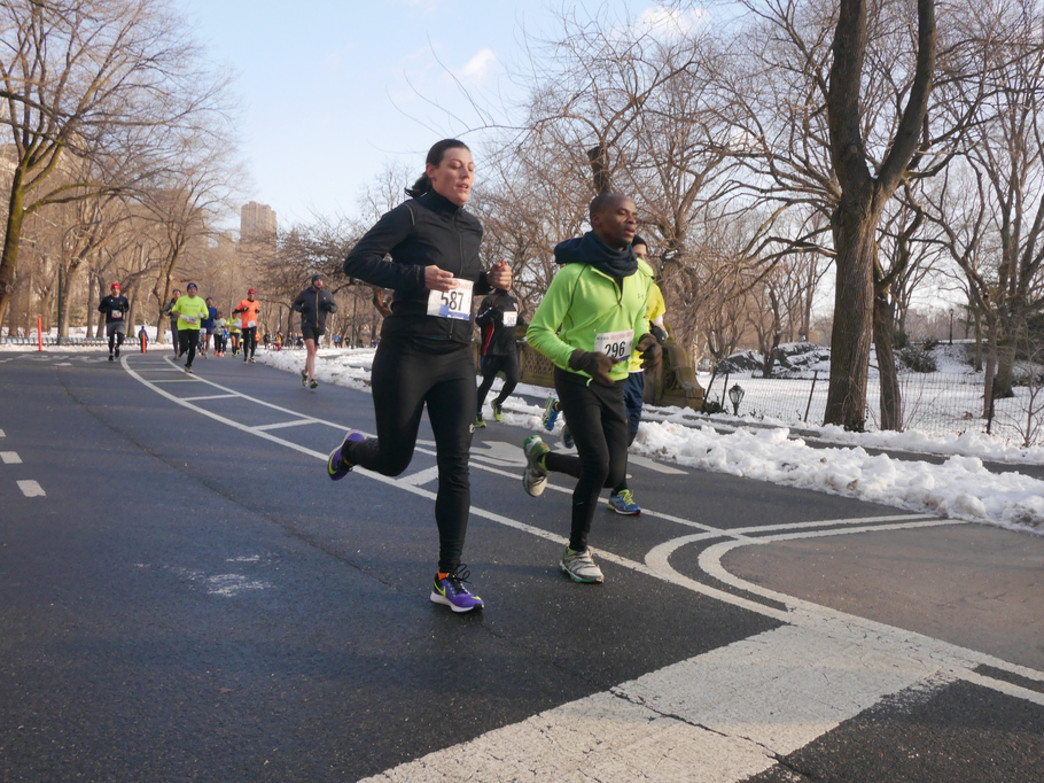 Winter running at Central Park