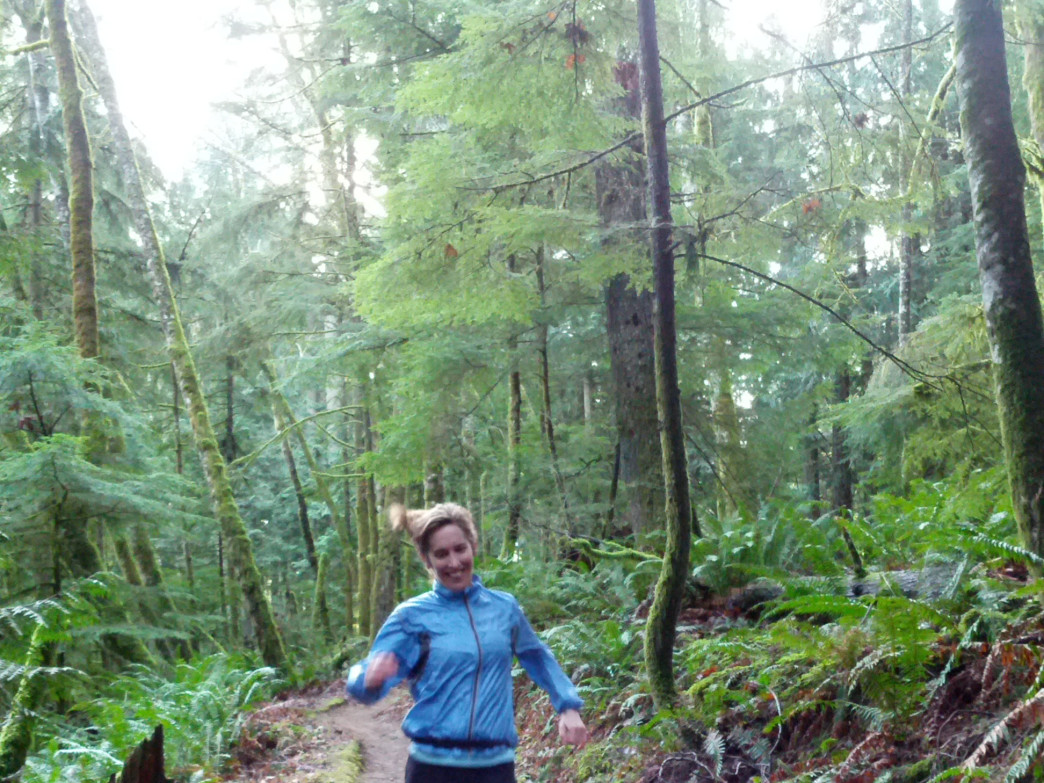 Kristin Ingman gets creative inspiration by running Bellingham trails.