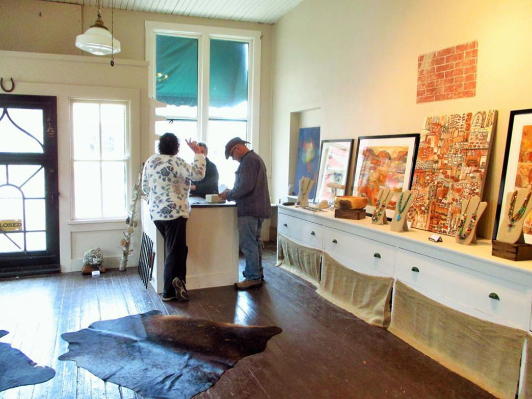 The small town of Stockholm, Wis., is filled with art galleries and other places to shop.