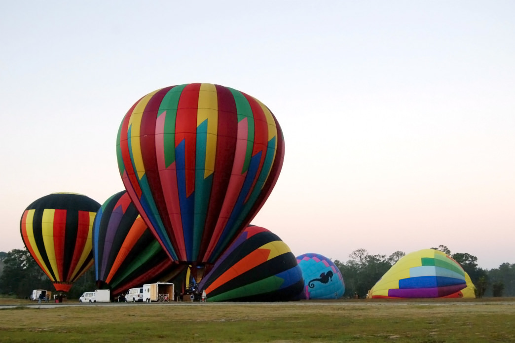 Some of the best views of central Florida are from a hot air balloon.