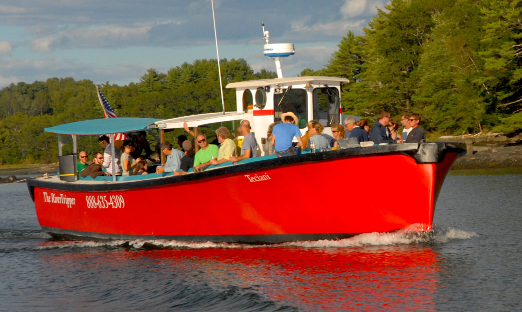 Damariscotta River Cruises run up and down the waterway daily.
